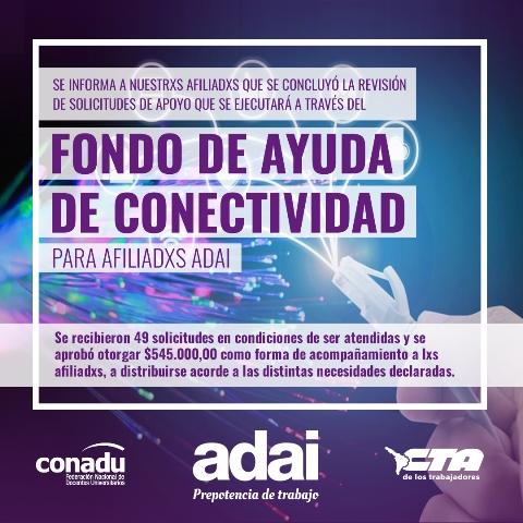 Fondo de Ayuda de Conectividad para Afiliadxs ADAI