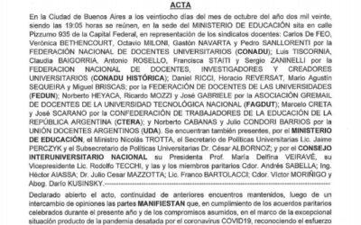 ACUERDO PARITARIO DOCENTES UNIVERSITARIXS